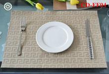 new item hotel place mat fast food napkin leather napkin drawer mat pvc pu leather food mat