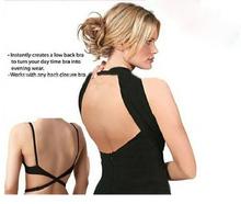 Low back bra strap converts the back closure bra