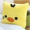 Yellow toy plush duck pillows/cute soft cushion/soft plush pillows