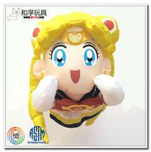 Classical anime plush sailor moon figure toy