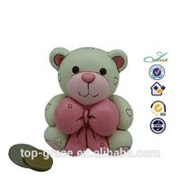 resin money bank handmade, polyresin bear piggy