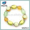 Fashion beads glass bracelet, DIY handmade bracelet, 2014 lucky beads bracelet MSP012