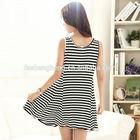 summer classic striped dress Pakistan custom design 100% cotton maternity clothing BK146