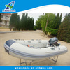 Fiberglass rigid inflatable boats with folding transom