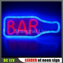 hot !Shanghai Liyu waterproof neon sign safe bar neon sign