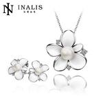 Fashion Fake Pearl Platinum Plating Wedding Jewellery Designs