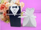 bride and groom weddng candy box,Wedding Favor Box