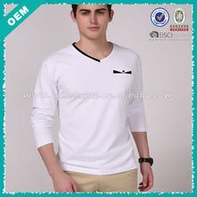 Hot sale ! factory manufacture plain men v-neck t-shirt (lyt-04000393)