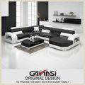Novo mobiliário chinês sofá secional chaise rodada