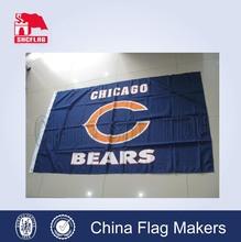 Chicago Bears team flag, nfl flag on 32 football team badge, sports custom flag