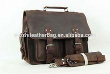 Vintage Extra Large Genuine Leather Briefcase, Messenger Bag, Men's Handbag 7145