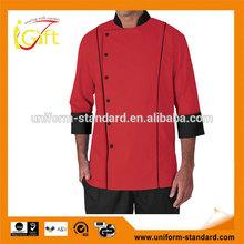 Basic Fit Chef Coat Plastic Buttons 100% Premium Cotton Twill cheap sushi chef coat