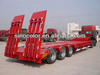 2axles 50tons flat rack low bed semi-trailer for sale