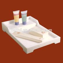 Acrylic 5 star hotel amenity tray, hotel amenities tray, bathroom amenities tray