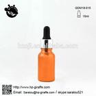 15ml dropper glass bottle in silver collar black bulb