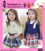 Wholesale Sweet Girl Cotton Dress Long Sleeve Warm Casual Short Grid Top Quality Baby Dress For Girl