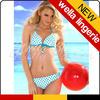 WELLA LINGERIE Blue Print Dots Halter White xxxl hot sex bikini
