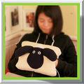 caliente de la venta del respaldo de los animales almohada cojín del asiento