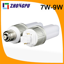 g23 led plug lamp 8 watt 9W E27 G24 G23 4pin 360dgree 82Ra SMD2835 990lm Retrofit White (Replace 35W CFL)