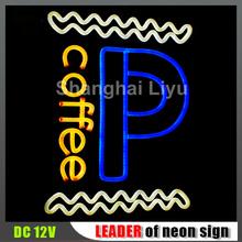Shanghai Liyu diy open sign display, emmiting neon sign