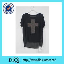 2014 alibaba china clothing woman plus size chiffon beaded t shirt cool summer t shirt wholesale