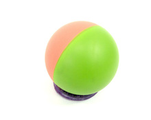 2015 Promotional Bright two tone Color 60mm Rubber high Bouncing Ball, made in Thailand