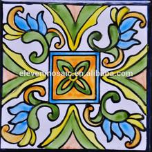 China Tiles,Hand Painted Flower Design Ceramic Backsplash Tiles -EMHZ002