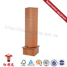 Hot sale garment square-tube backboard gondola rack/supermarket shelf decor designs
