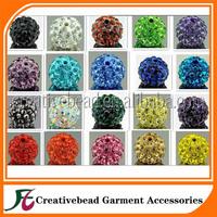 wholesale high quality fashion colorful shamballa rhinestone beads