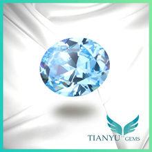 AAA Grade Synthetic CZ Stones Oval Aquamarine Stone