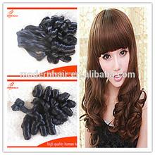 7A Loose wave Natural black Double drawn Virgin russian hair, Russian aunty Funmi hair bouncy curls