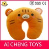 The latest design plush cat design neck pillow for baby AZO free CE testing