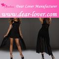 Nova chegada 2014 moda manga comprida bordado chiffon vestido de noite
