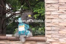 New product tartan pattern fleece blue dog clothes