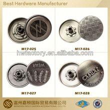 fastener custom spring press snap button jewelry