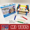 novo design caixa de madeira ferramenta diy conjunto de madeira do brinquedo