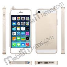 TOTU Armor Bumper Case for iPhone 5 5s, for iPhone Aluminum Bumper Case with Blue Rhinestone dust plug