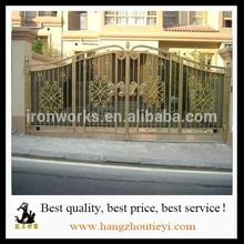 Beautiful design wrought iron gate parts luxury outdoor iron gate