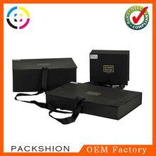 Elegant design ribbon closure flip top gift boxes popular for export