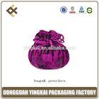 Newest wholesales packaging pouch &bag, silk/satin drawstring bag/ drawstring bag& pounch