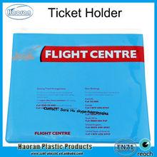 Plastic Vinyl Travel Tickets Organizer Purse