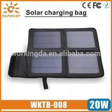 New Design Portable 20W Solar Power Bag for outdoor use