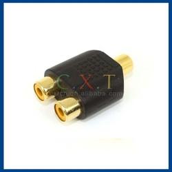 RCA adapter RCA splitter 1 female to 2 female
