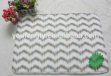 Wave toilet floor mat