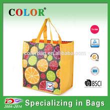 Foldable easy taking supermarket shopping bag, vegetable shopping bag, promotion non woven bag