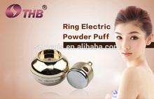 China manufacturer 2014 New design makeup powder puff vibration foundation powder puff applicator