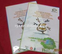 Offset uv printing A4 size 0.2mm plastic folio file RYX-0913