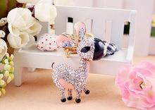 Fashion personalized souvenir alloy rhinestone crystal donkey Key chain YS237-(001)