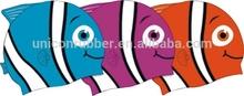 sun protection silicone design your own swim cap for kids,printable waterproof fish shape swim cap UN-0608