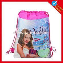 personalized fashion nylon draw string bag